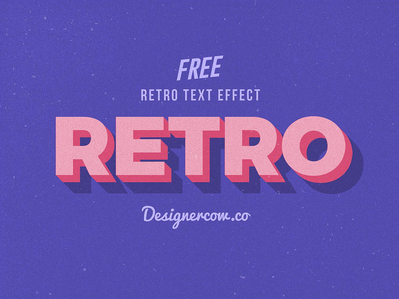 Free 3D Retro Text Effect