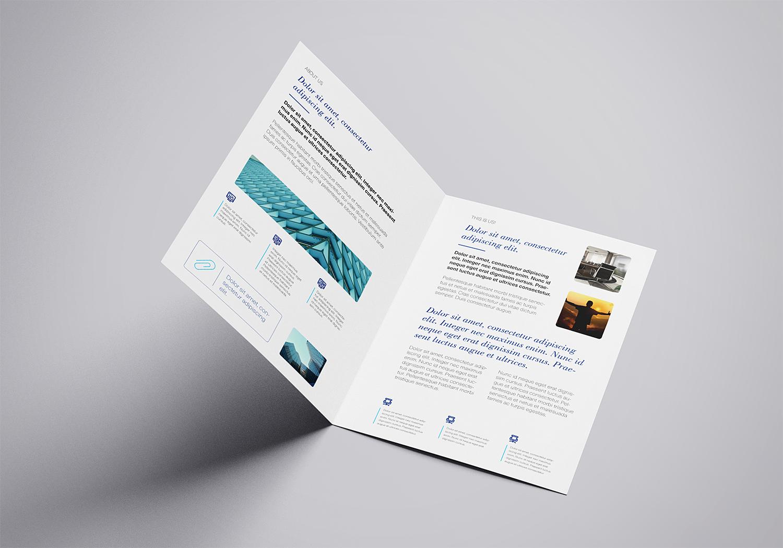 Free A4 Bi-Fold Mockup Template