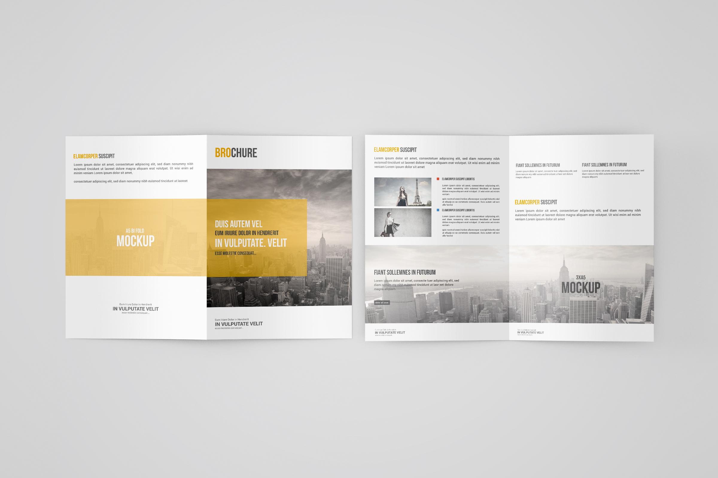 Free A5 Bi-Fold Brochure Mockup
