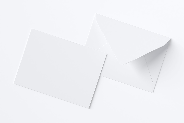Free A7 Envelope Mockup