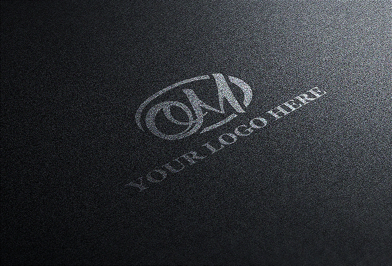 Free Black Logo Mockup
