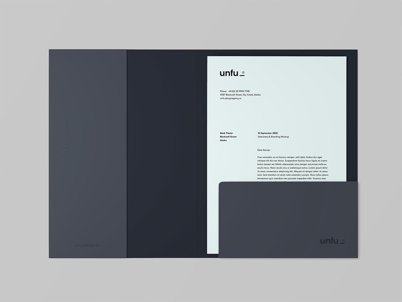 Free Branding Folder with Letterhead Mockup