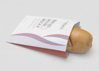 Free Bread Paper Bag Packaging Mockup