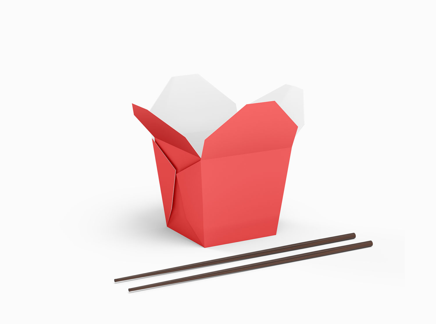 Free Chinese Noodles Packaging Mockup