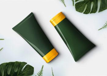 Free Cosmetics Cream Tube Mockup