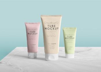 Free Cosmetics Tube Mockup Scene