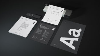 Free Granite Stationery Mockup