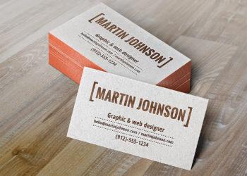 Free Letterpress Business Cards Mockup