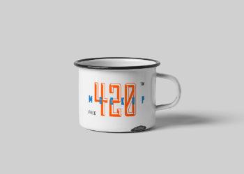 Free Metal Mug Mockup