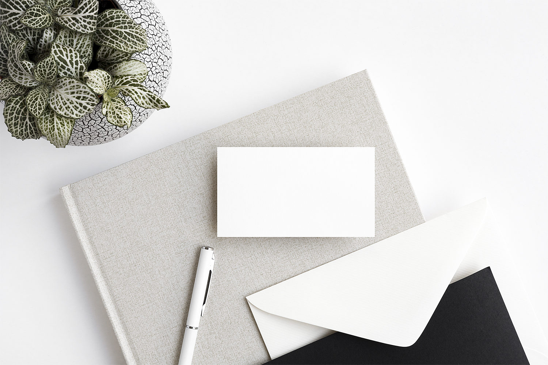 Free Minimalist Business Card Mockups