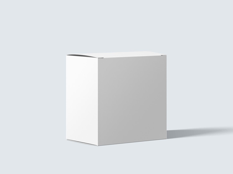 Free Photorealistic Cardboard Package Box Mockup