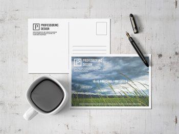 Free Postcard Mockup Design