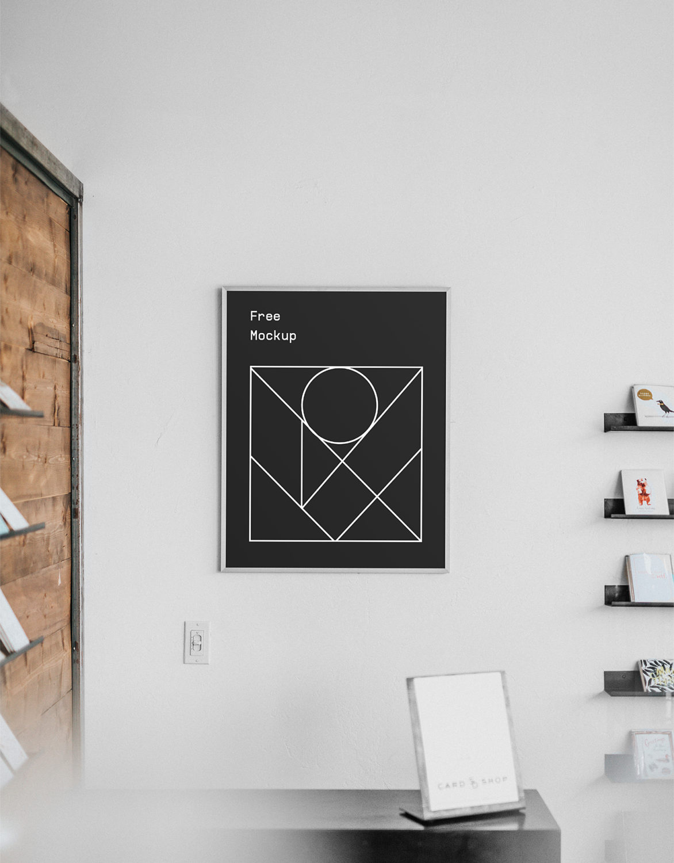 Free Poster Interior Mockup