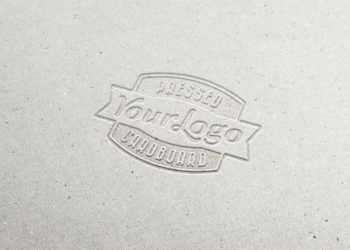 Free Pressed Cardboard Logo Mockup