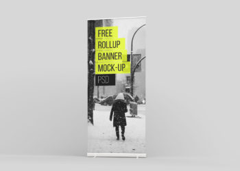 Free Rollup Mockup PSD