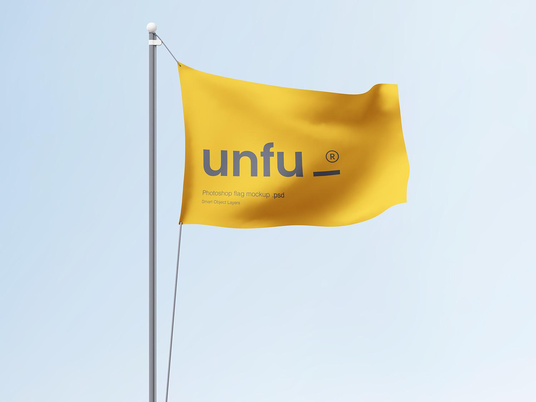 Free Simple Flag Mockup