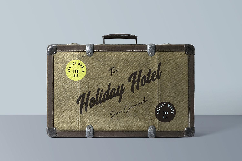 Free Suitcase Mockup