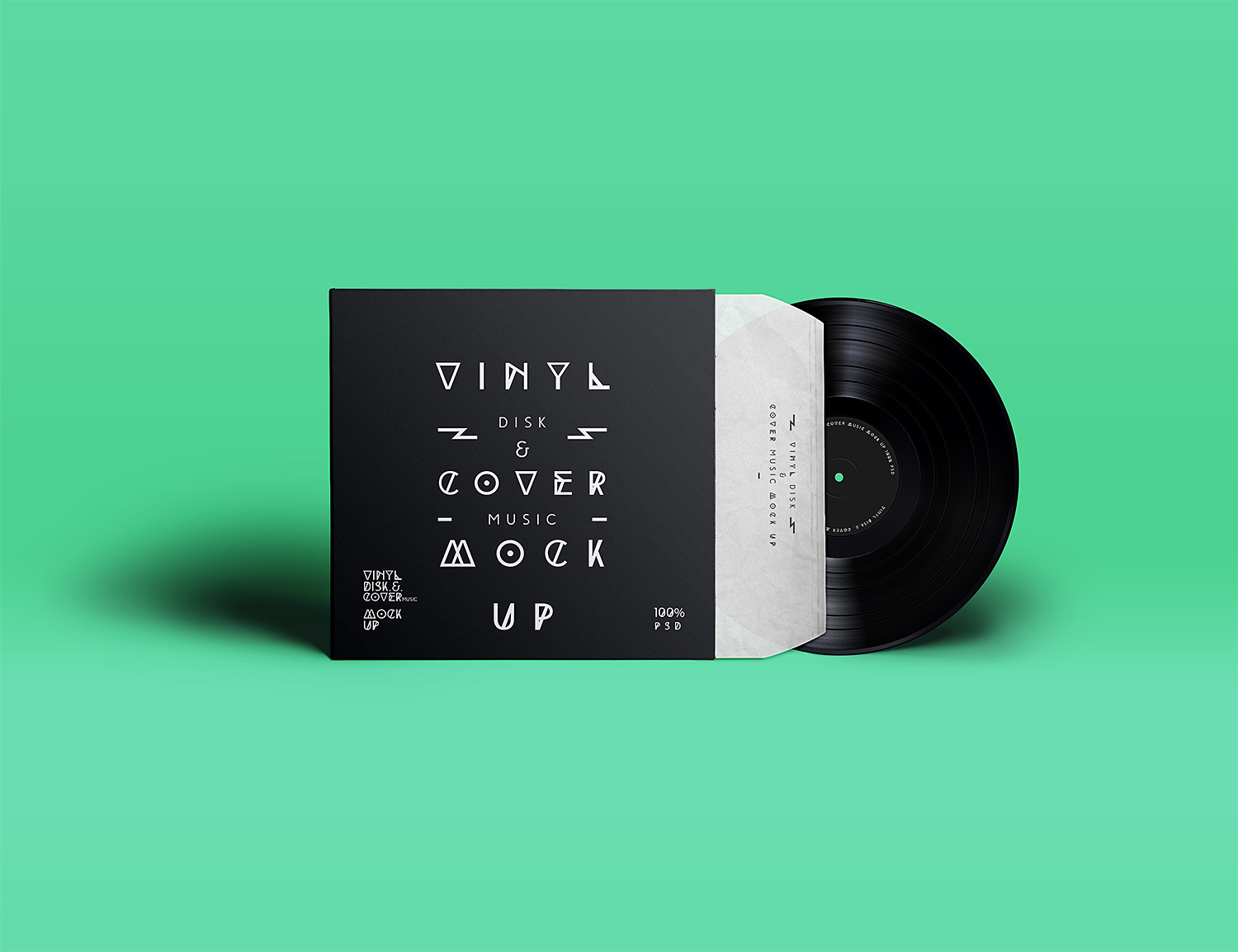 Free Vinyl Cover Record Mock-Up