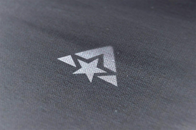 Pressed Logo Mockup on Fabric