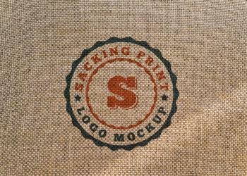 Sacking Print Logo Mockup