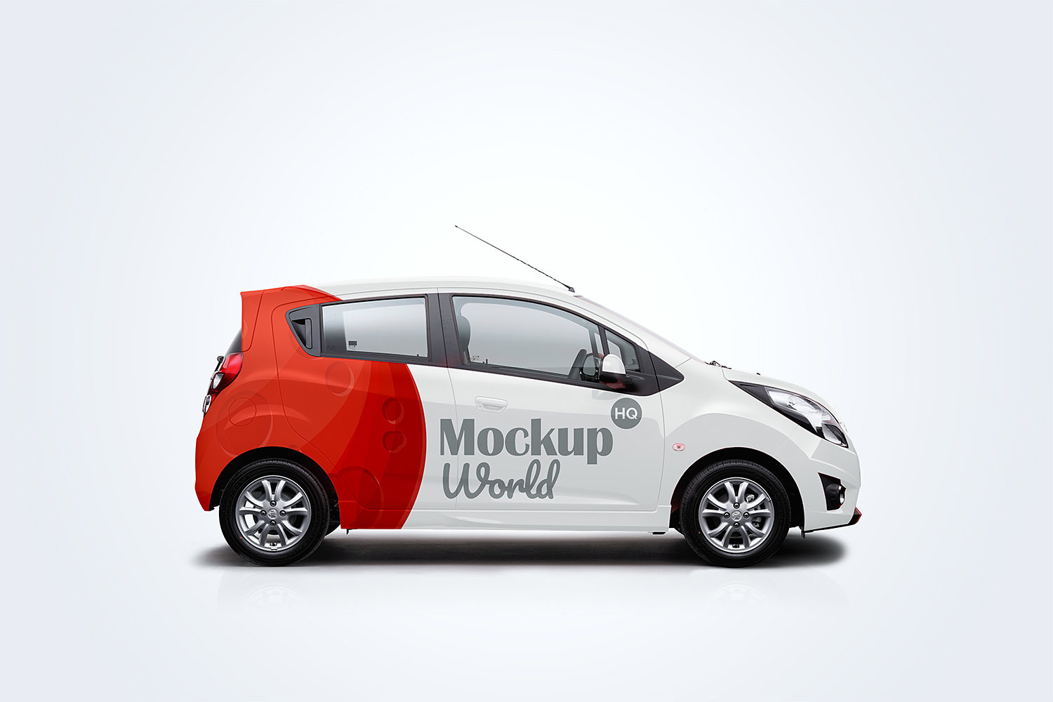 Free Delivery Car Mockup