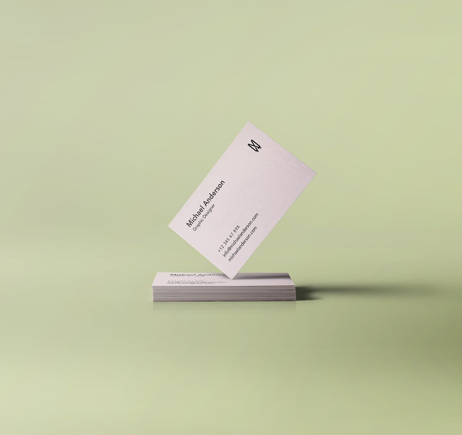 Free Stack Standing Business Card Mockup