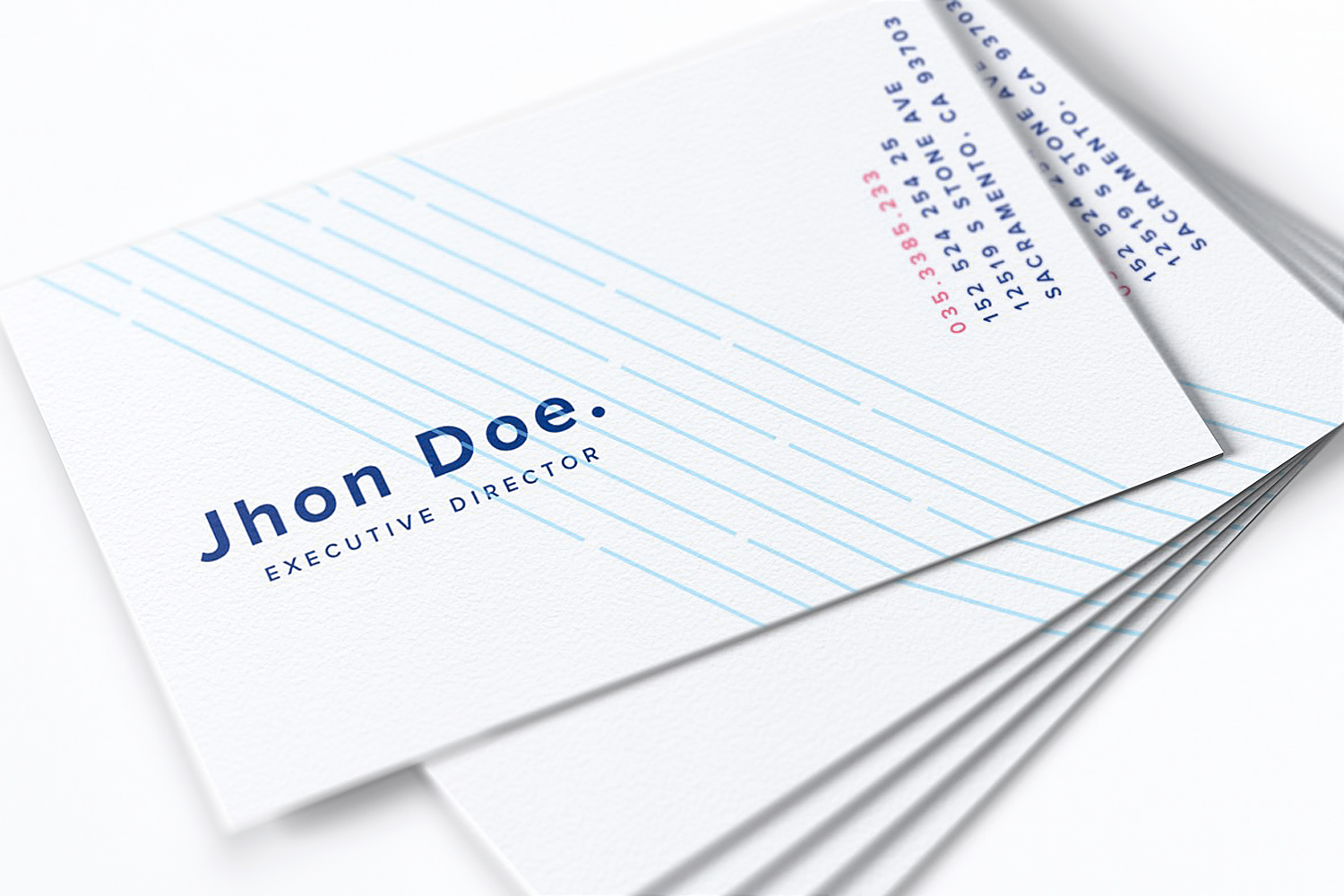 Free Business Cards PSD Mockup