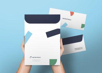 Envelope and A4 Folder Mockup