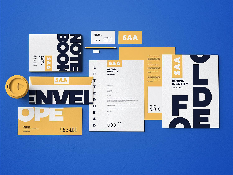 Free Branding Stationery Mockup Set