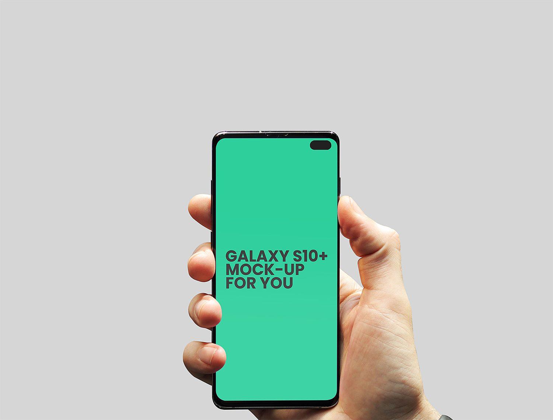 Free Galaxy S10 Plus Mockup