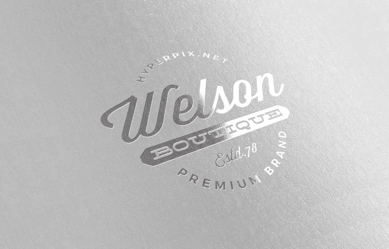 Free Glossy Silver Logo Mockup