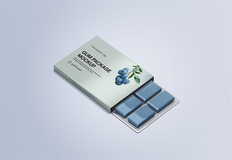 Free Gum Packaging Mockup