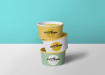 Free Ice Cream Cup Mockup