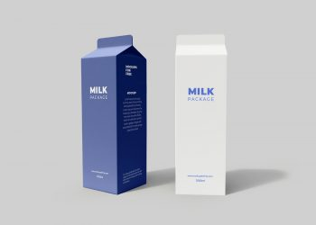 Free Milk Packaging Mockup