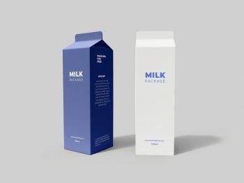 Free Milk Packaging Mockup