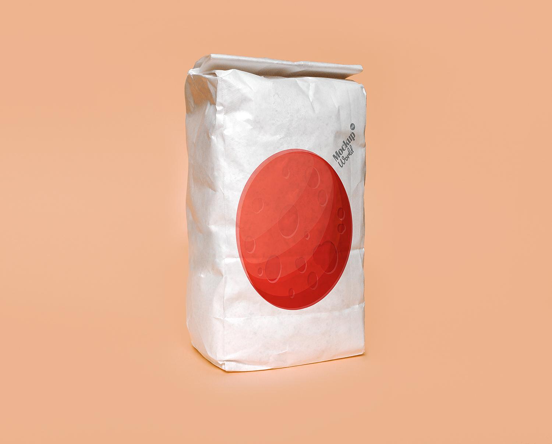 Free Paper Flour Bag Mockup