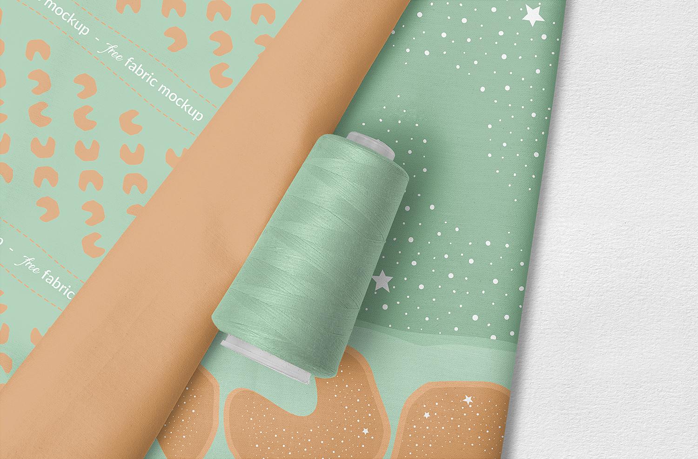 Free Photorealistic Fabric Mockup