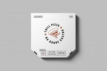 Free Pizza Box Mockup
