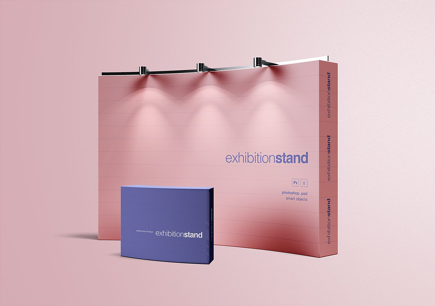 Free Simple Exhibition Stand Mockup