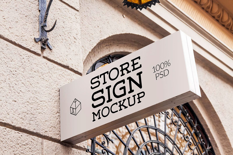 Free Store Sign Mockup