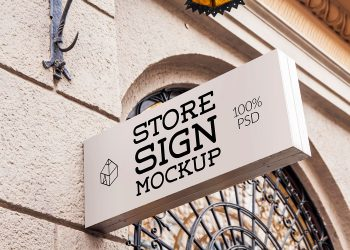 Free Store Sign Mockup