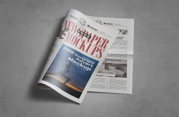 Free Tabloid Newspaper Mockup