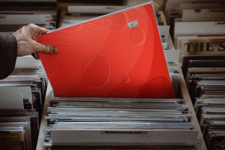 Free Vinyl Cover Mockup Set