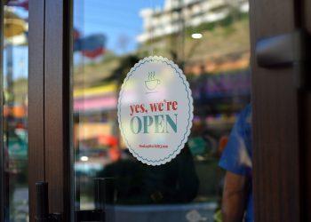 Glass Door Window Signage Mockup