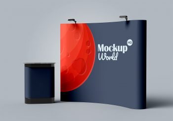 Trade Show Exhibition Booth Stand Mockup
