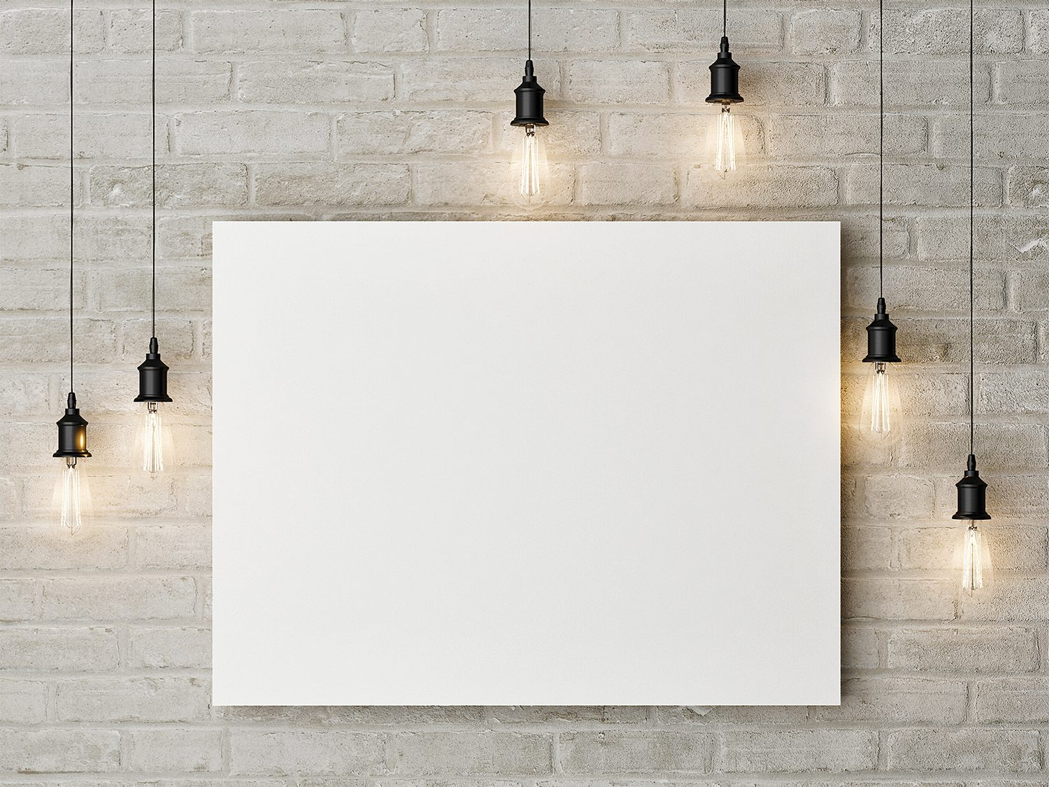 Free Canvas Painting Mockup on a Wall