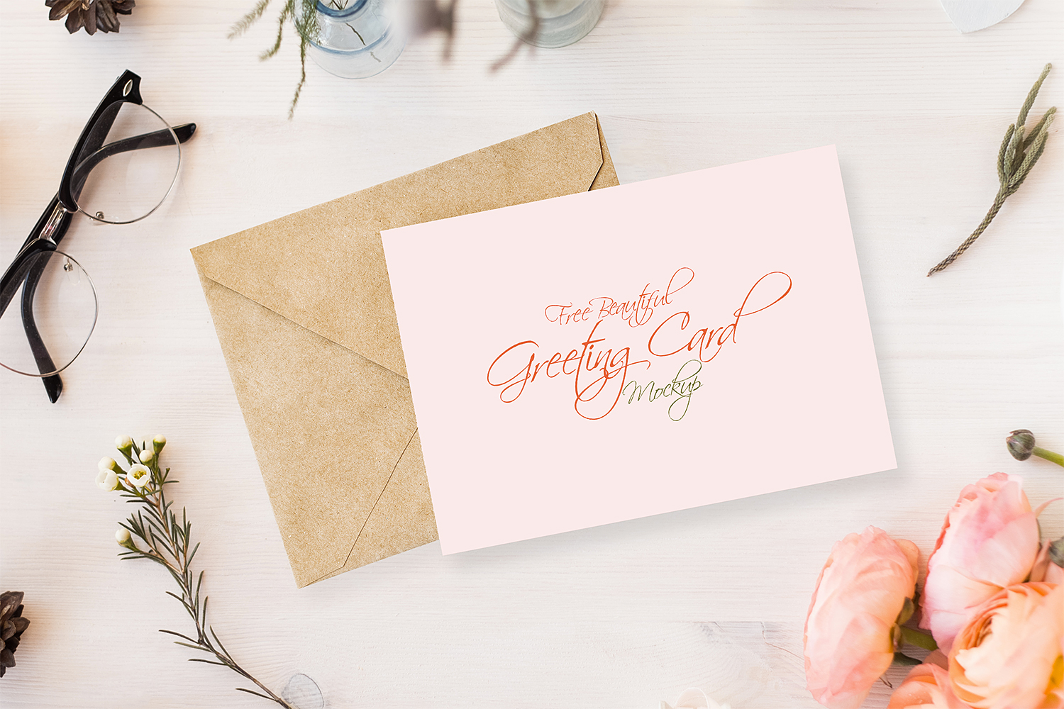 Free Greeting Card Mockup