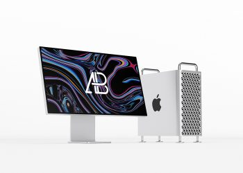 Free New Mac Pro and Apple Pro Display Mockup