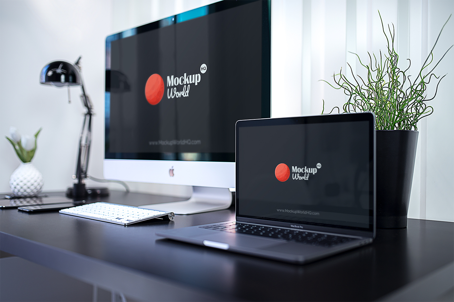 Free iMac and MacBook Pro Mockups