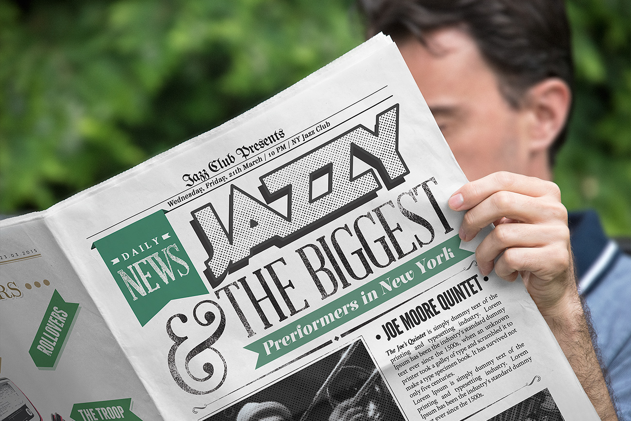 Free High-Quality Newspaper Mockup